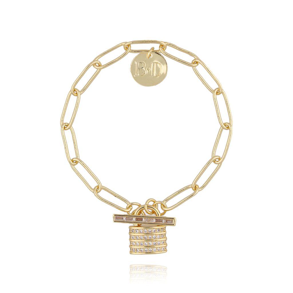 Bransoletka złota z kłódką BRG0122