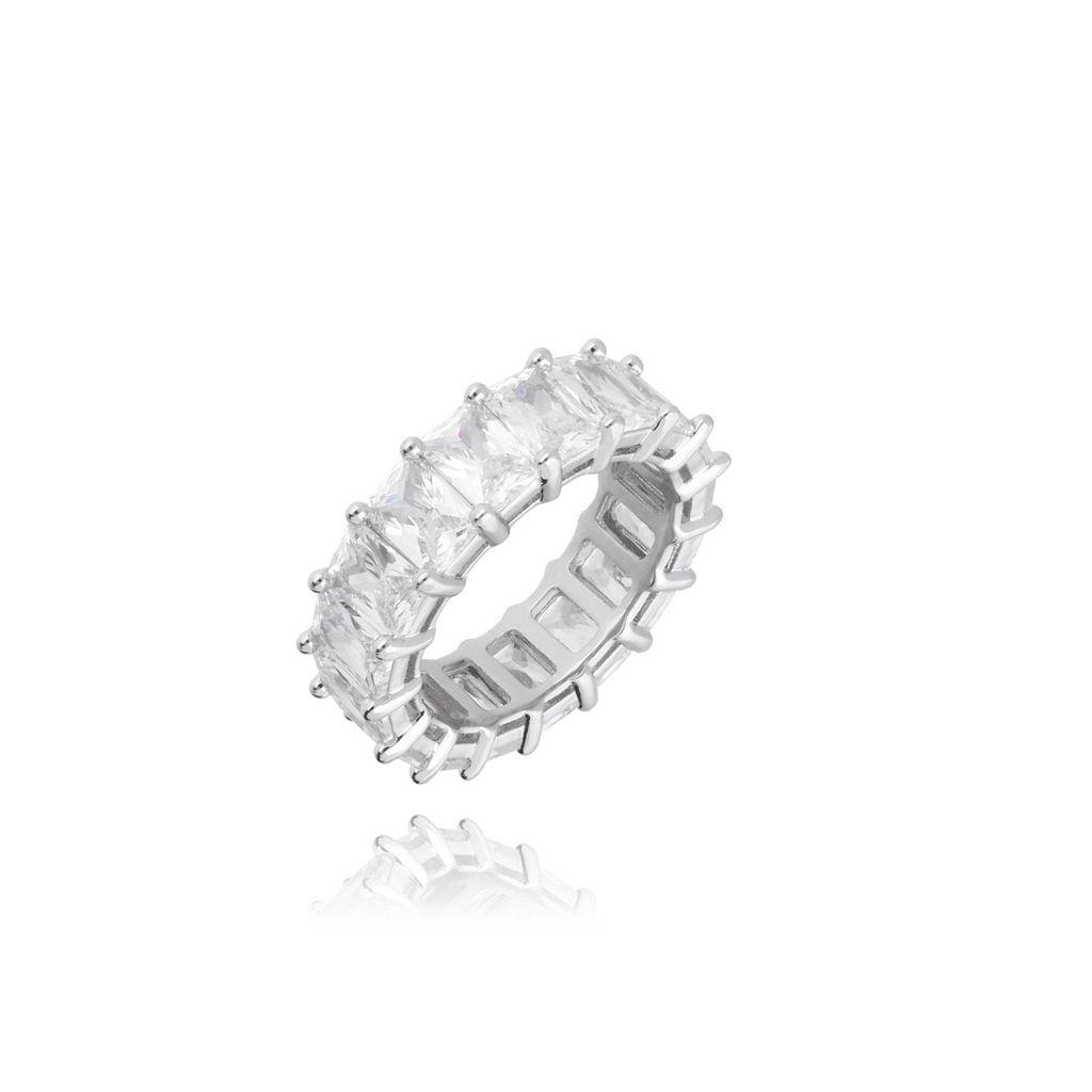 Pierścionek srebrny z kryształkami PRG0121 Rozmiar 10