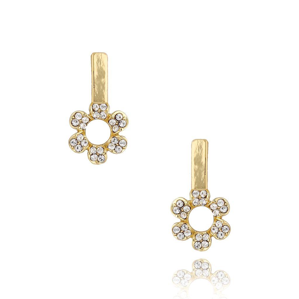 Kolczyki kwiatuszki kryształowe KRG0631