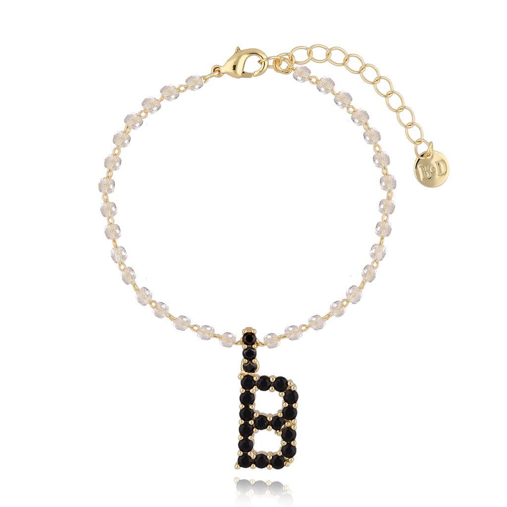 Bransoletka z zawieszką literka B BRG0149
