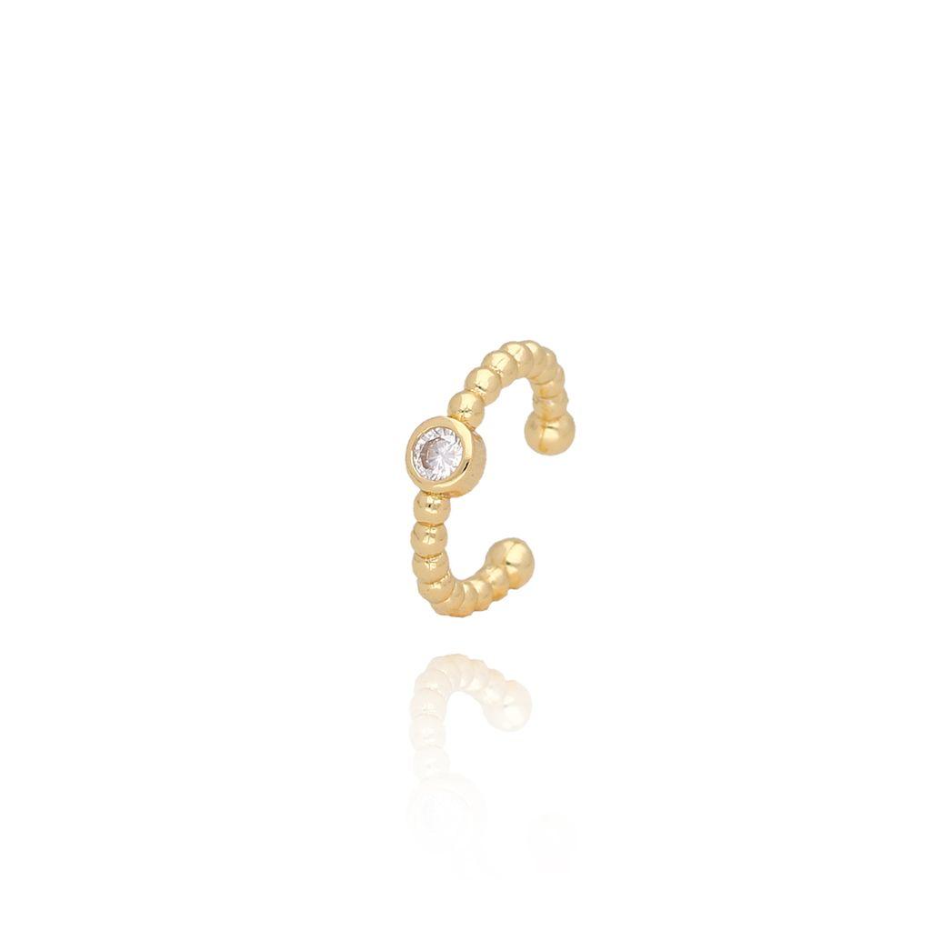 Nausznica złota z kryształkiem KCO0024