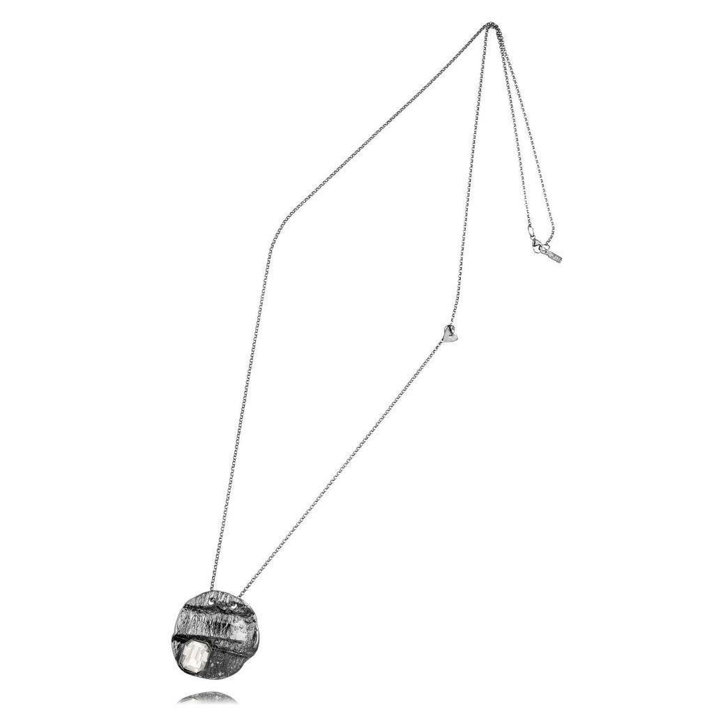Naszyjnik MOTYLE Selene srebrny z kryształem NMO0099