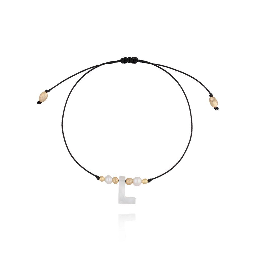Bransoletka na sznurku z literką L BAT0032