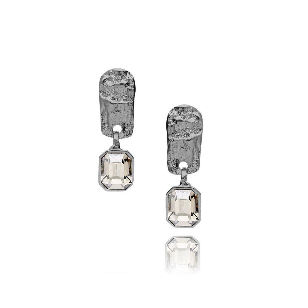 Kolczyki MOTYLE Selene srebrne z kryształem KMO0093