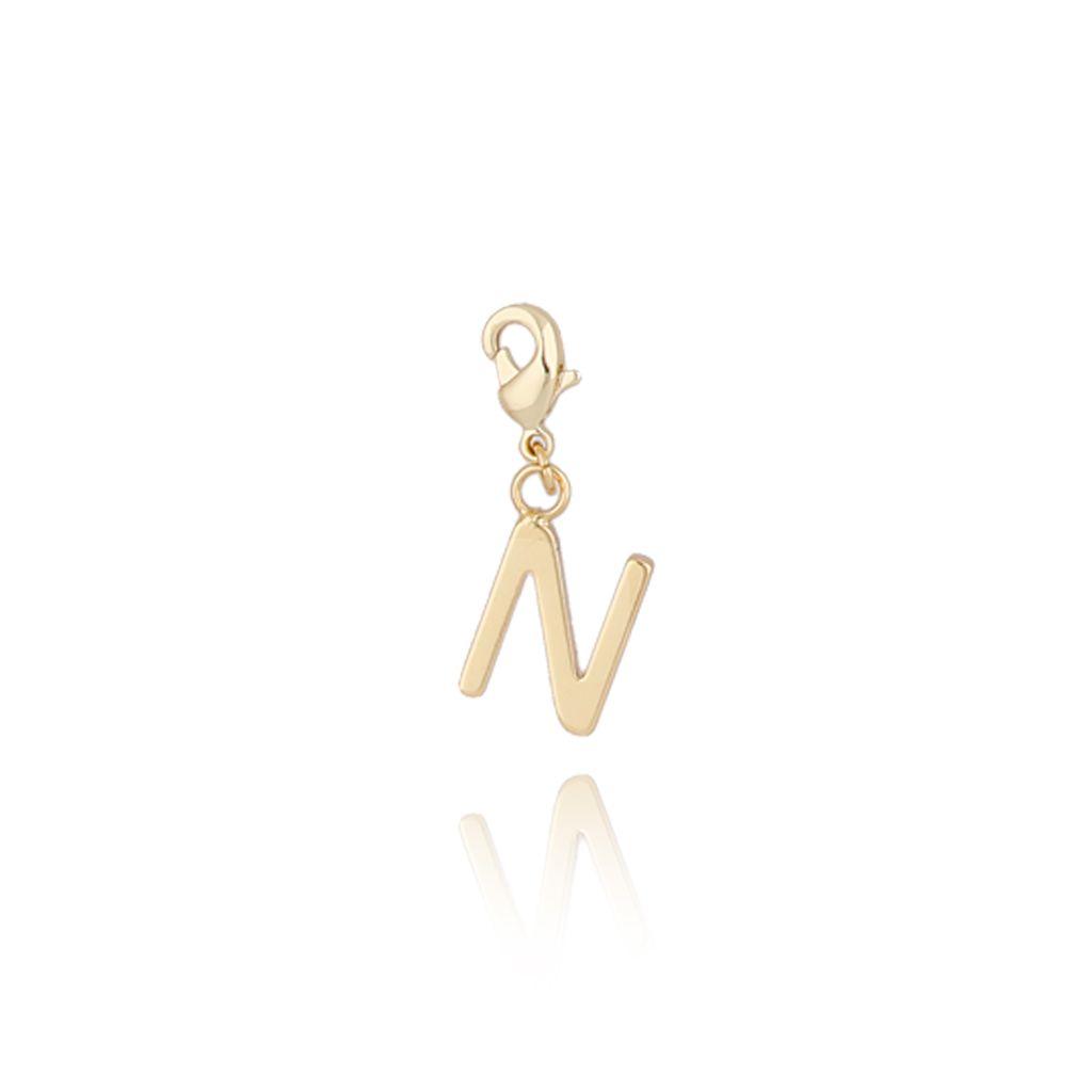 Charms złoty literką N NAT0179