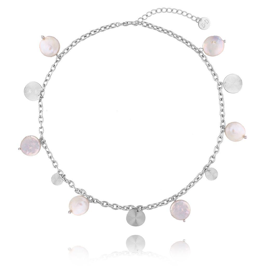 Naszyjnik z perłami i dyskami NPE0040