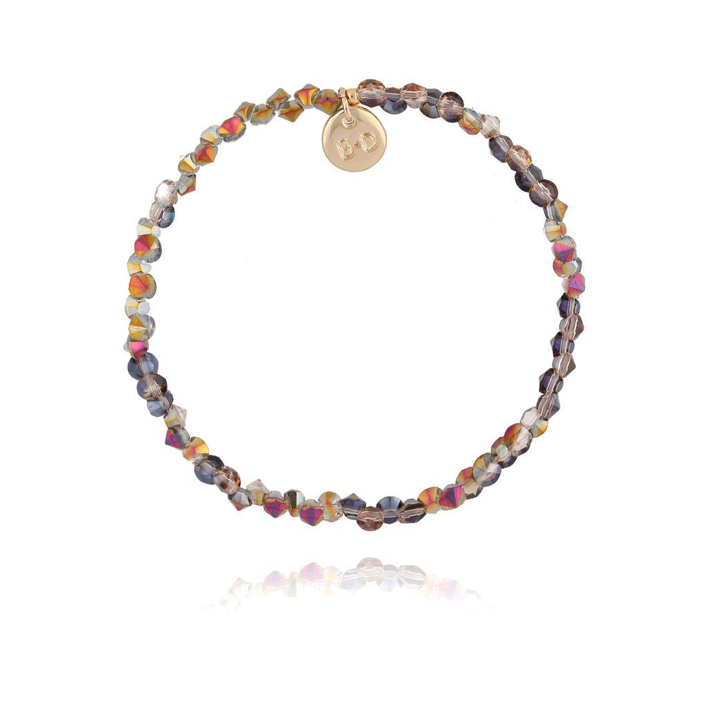 Bransoletka z kryształkami szarymi połyskującymi BTW0250