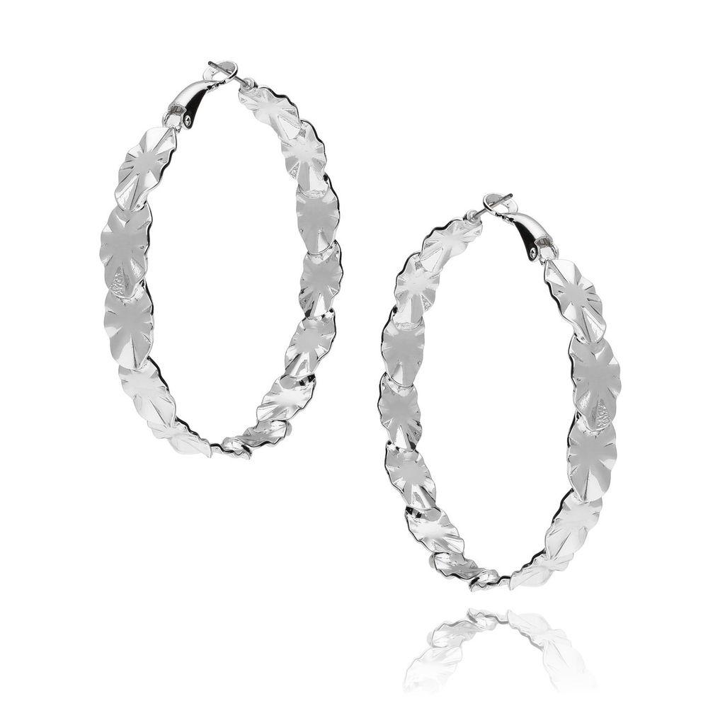 Kolczyki srebrne koła KRG0381