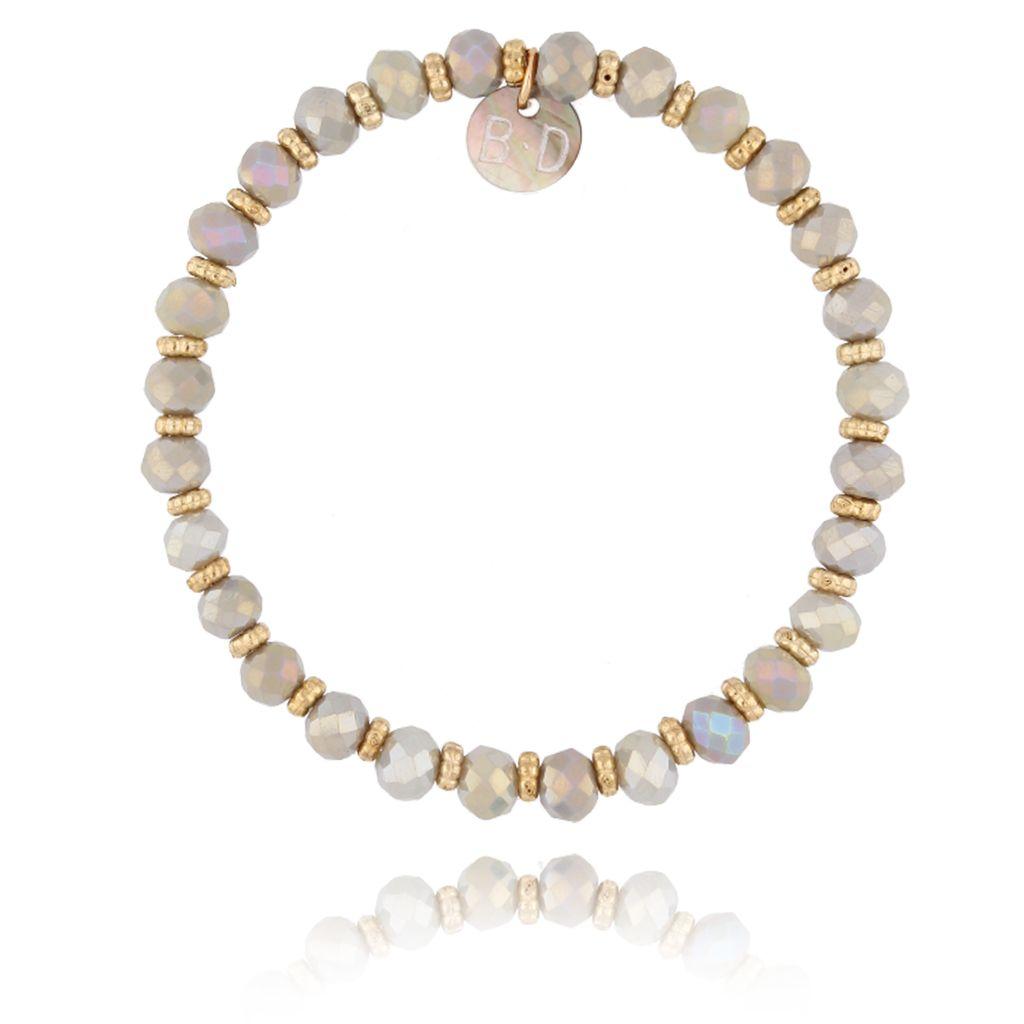 Bransoletka z szaro złotymi kryształkami BBL0086