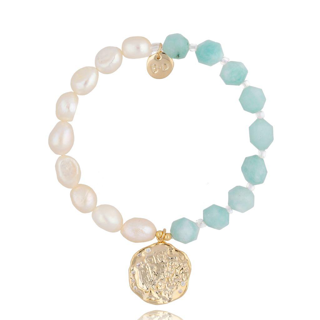 Bransoletka z perłami i kamieniami naturalnymi BPA0035