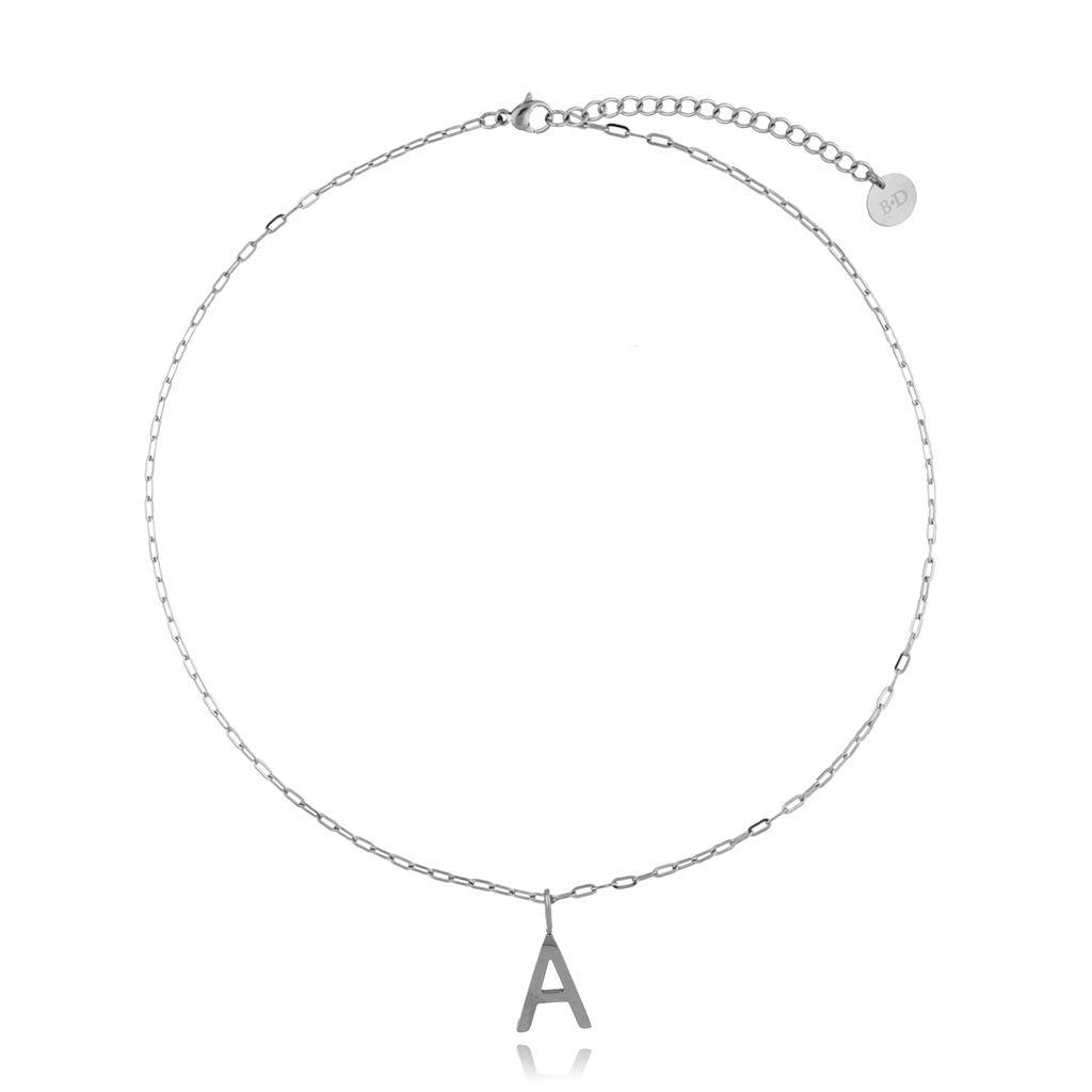 Naszyjnik srebrny z literką A NAT0194