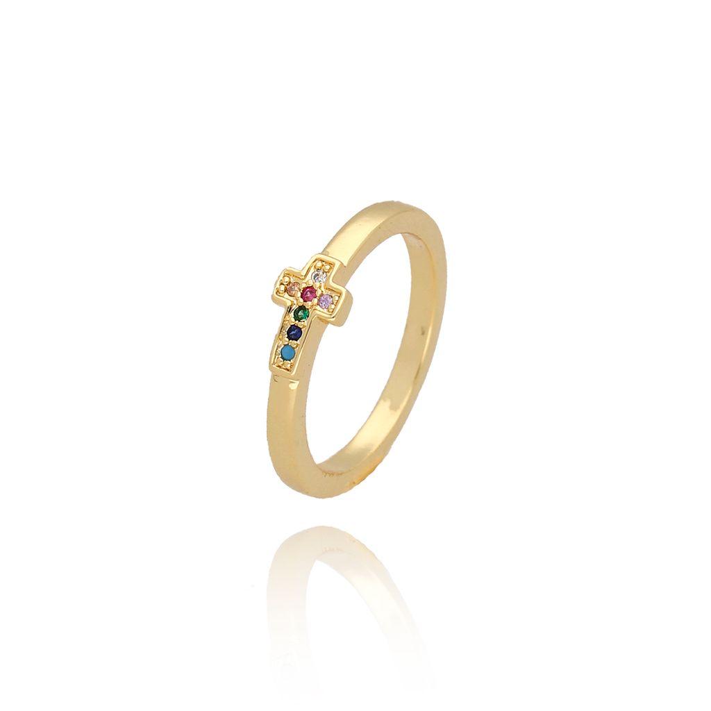 Pierścionek złoty z krzyżykiem PCO0007 rozmiar13