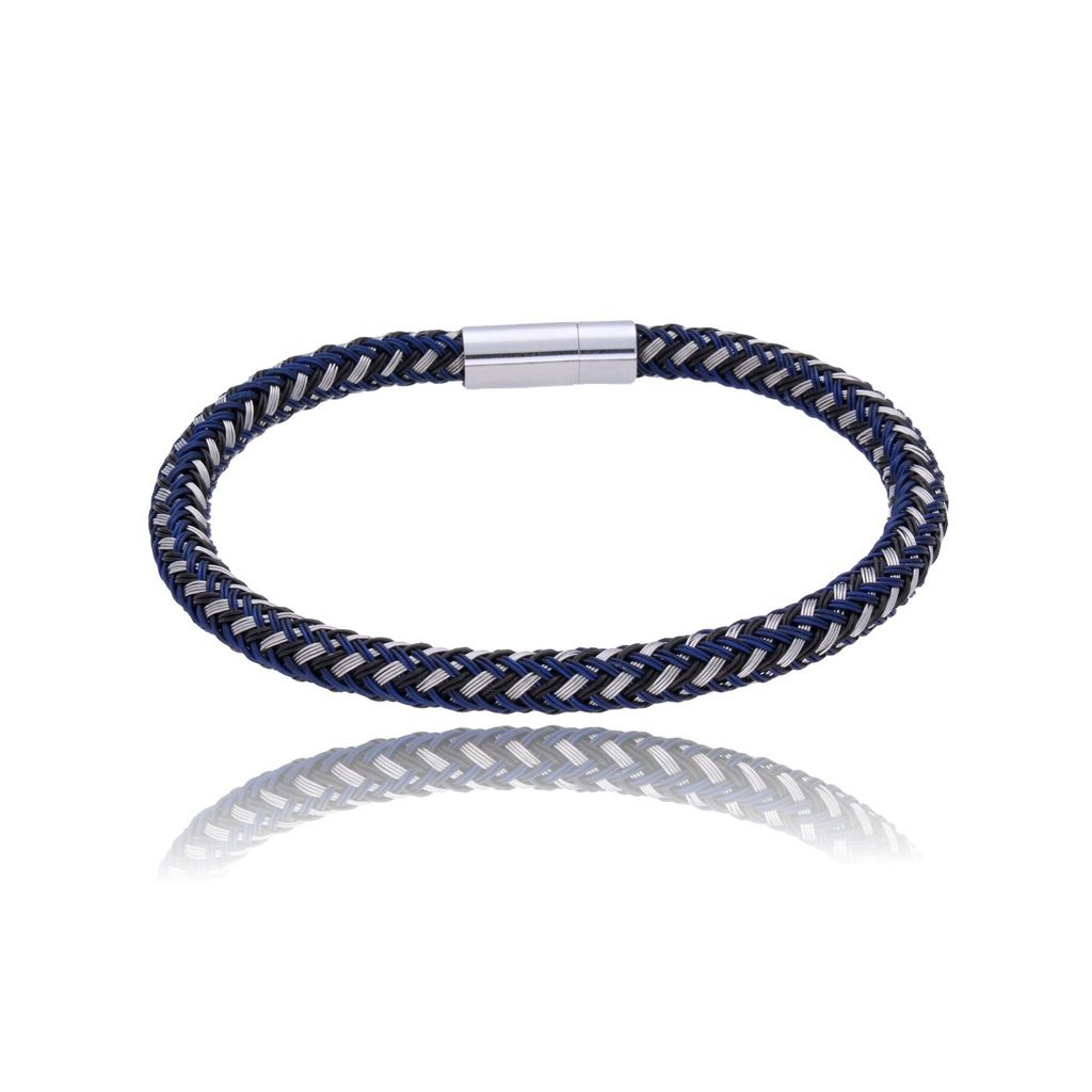 Bransoletka męska niebieska BMITC0162