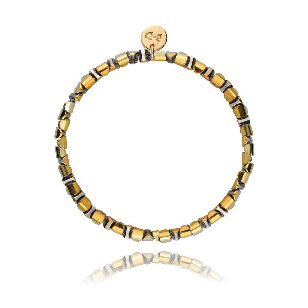Bransoletka złota z hematytem BTW0123