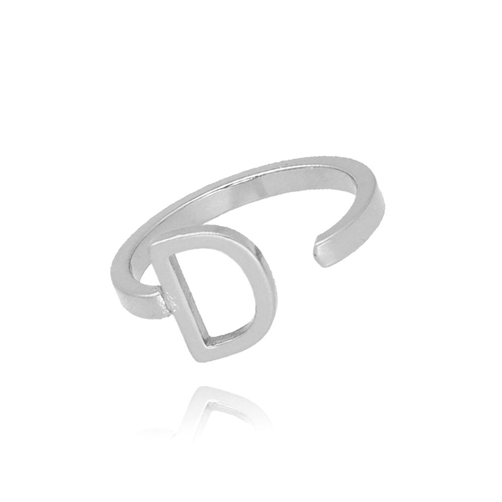 Pierścionek srebrny literka D PAT0005
