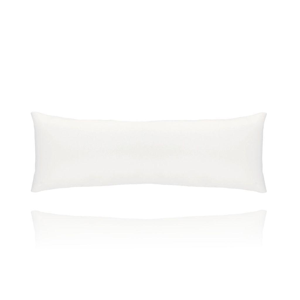 Poduszka skórzana biała - duża OPA0183