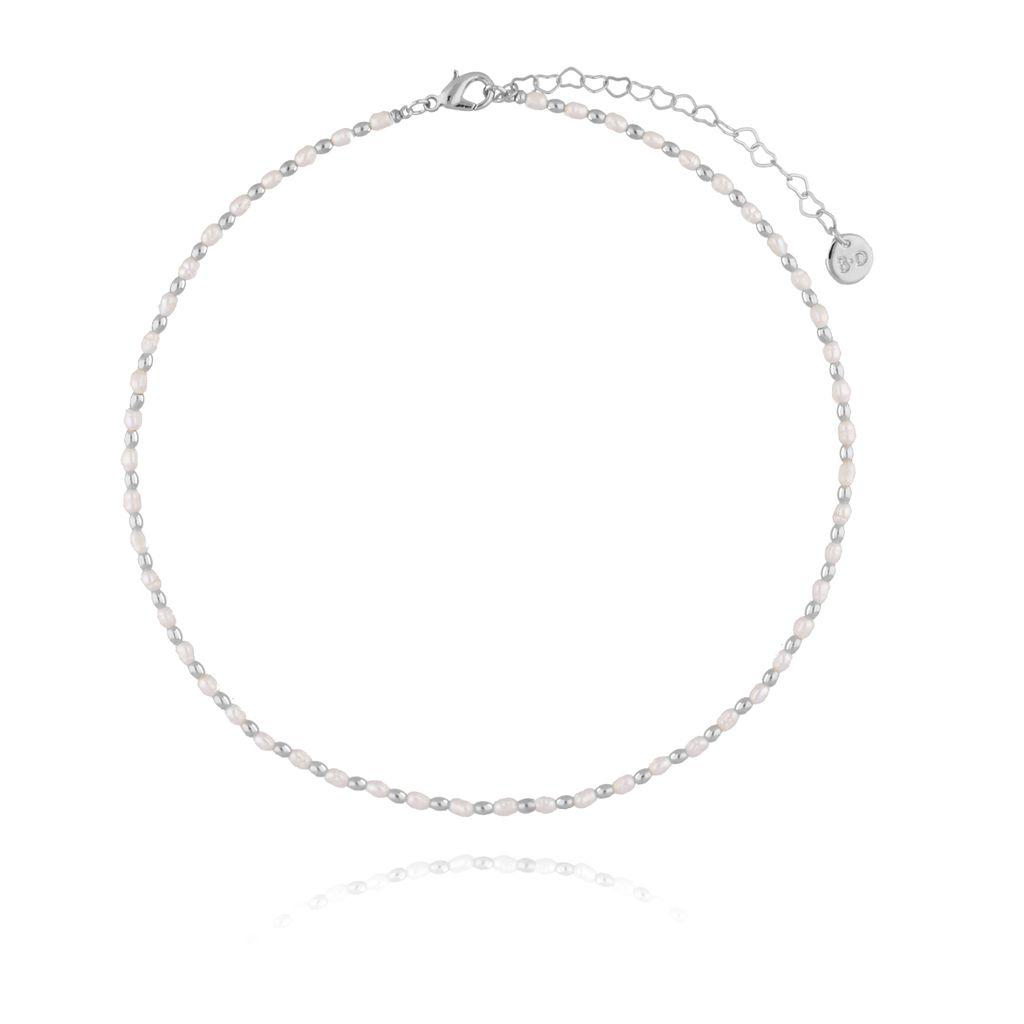 Naszyjnik srebrny z perełek NPE0036