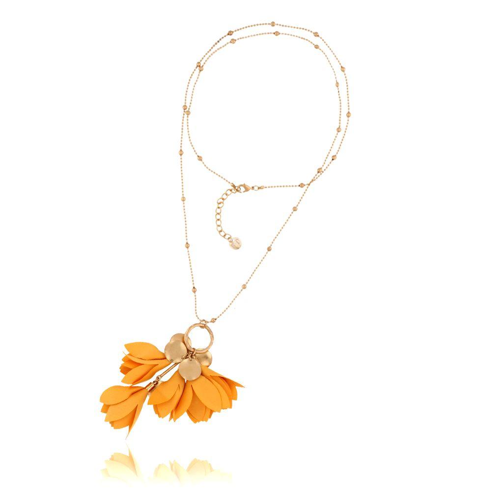 Naszyjnik z kwiatem Blossom żółty