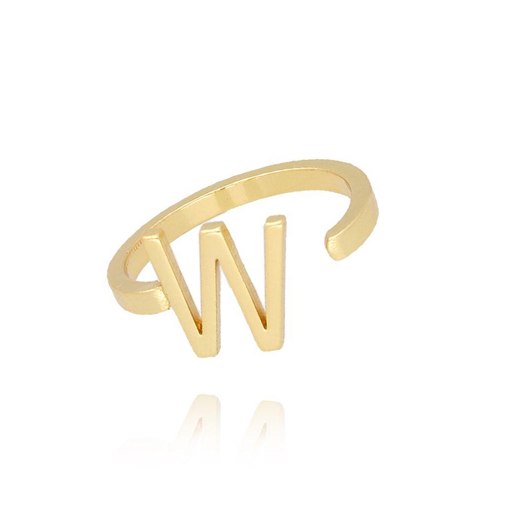 Pierścionek złoty literka W PAT0024