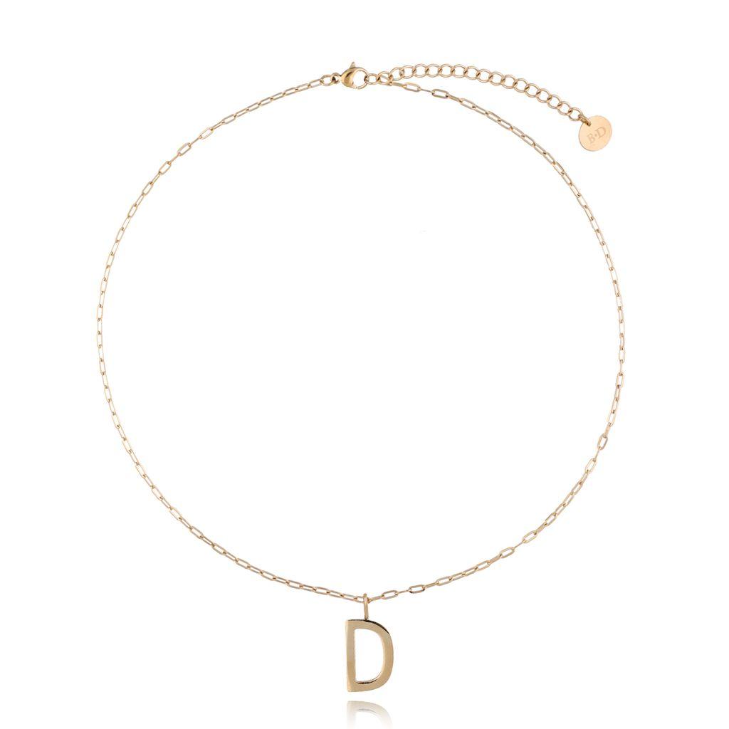 Naszyjnik złoty z literką D NAT0207