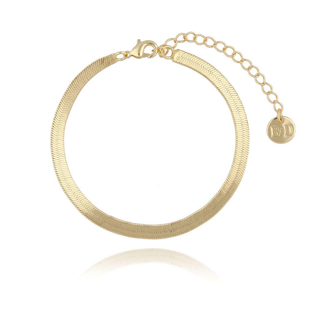 Bransoletka żmijka złota BRG0184