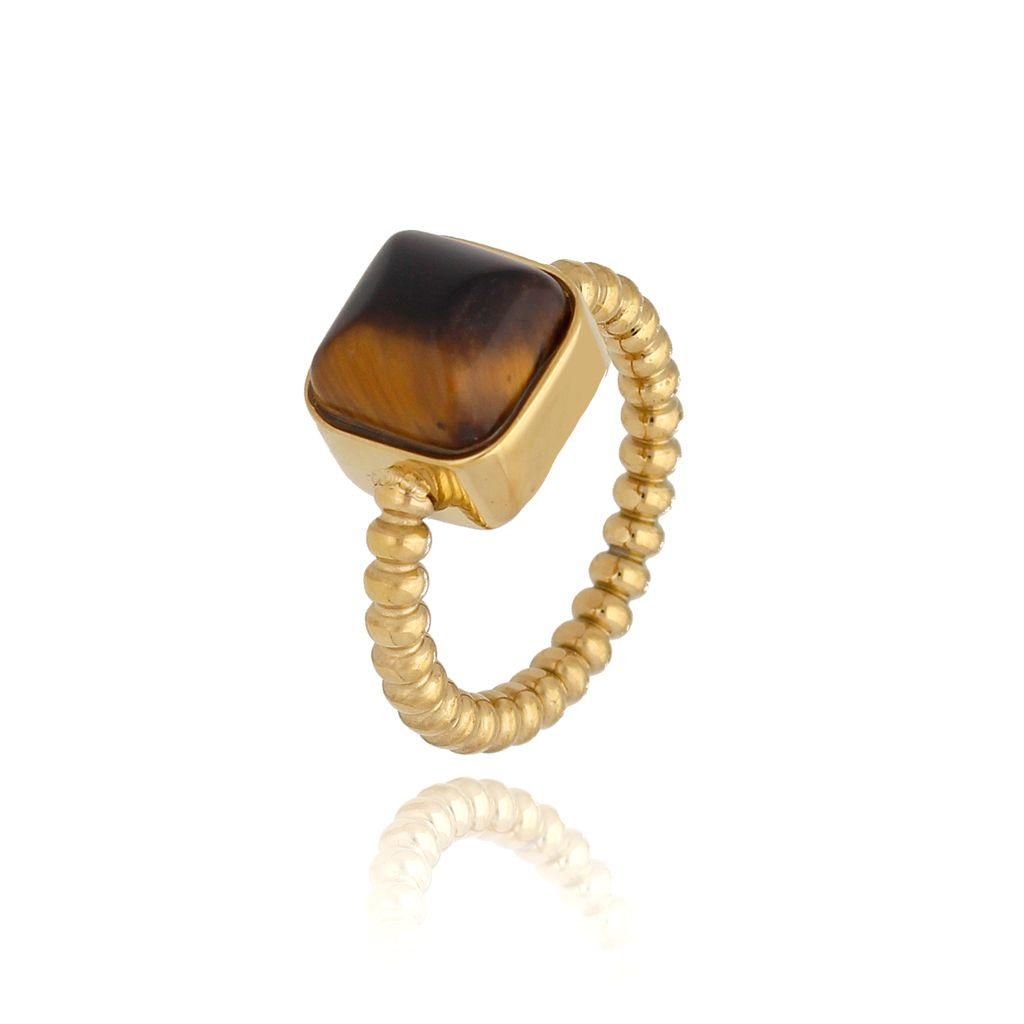 Pierścionek złoty z tygrysim okiem PSA0164 rozmiar 15
