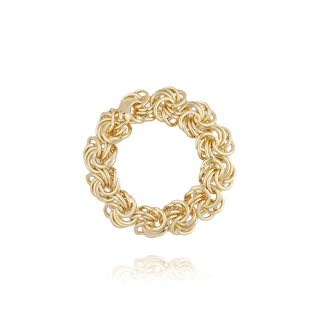 Pierścionek złoty z pleciony PPE0023 rozmiar 15