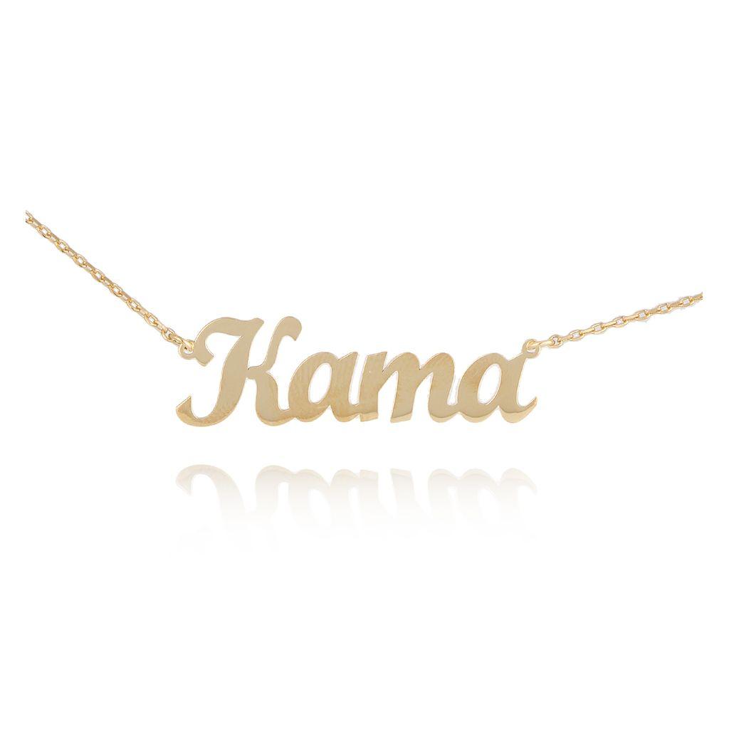 Naszyjnik srebrny pozłacany KAMA NAT0140