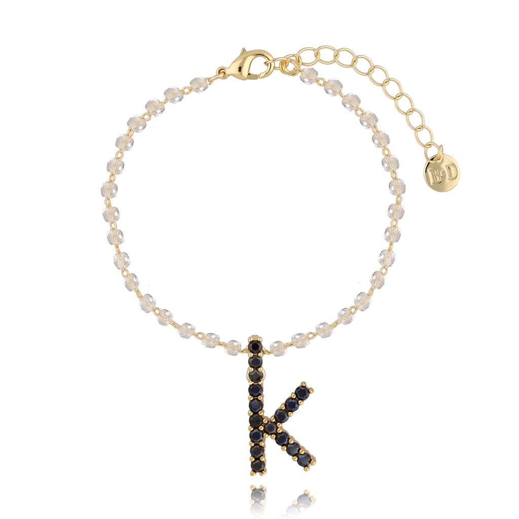 Bransoletka z zawieszką literka K BRG0152