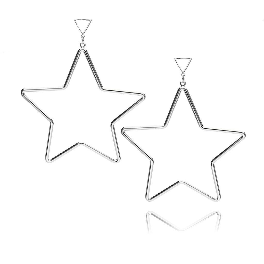 Kolczyki srebrne gwiazdy KRG0453