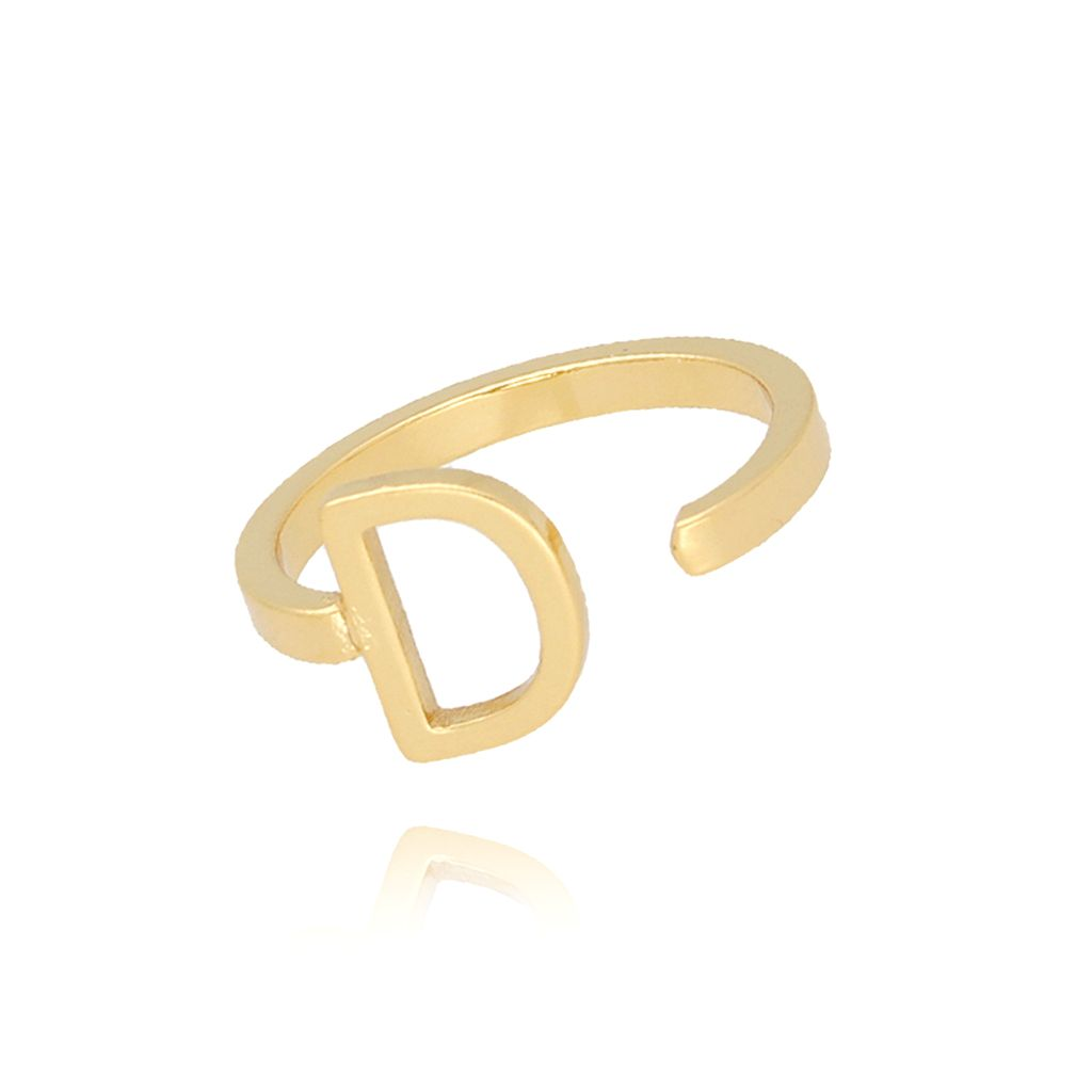 Pierścionek złoty literka D PAT0006