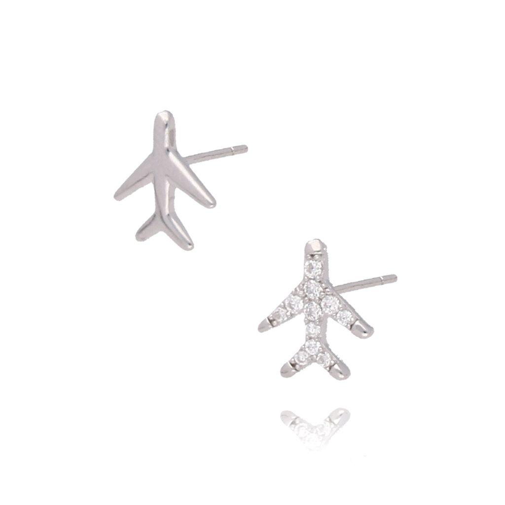 Kolczyki srebrne samoloty KGM0104