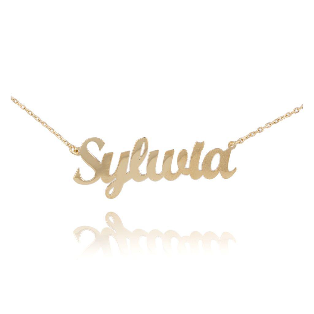 Naszyjnik srebrny pozłacany SYLWIA NAT0129