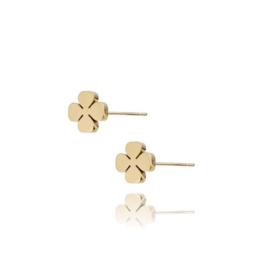 Kolczyki złote koniczynki ze stali szlachetnej KSA0018