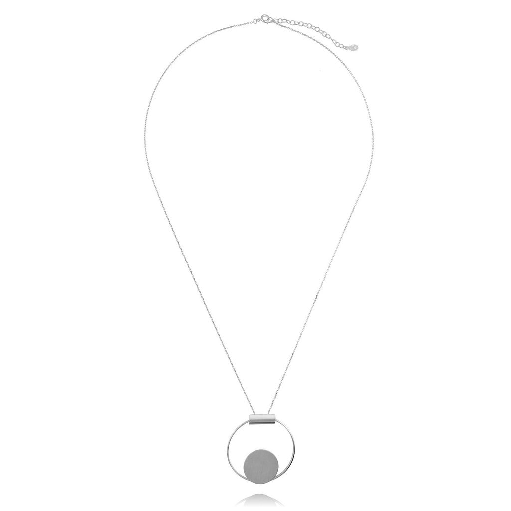 Naszyjnik srebrny koło NSE0059