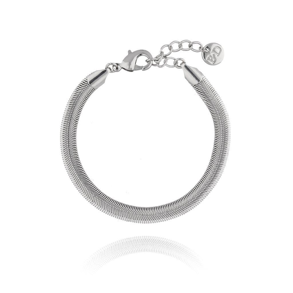Bransoletka srebrna żmijka BRG0124