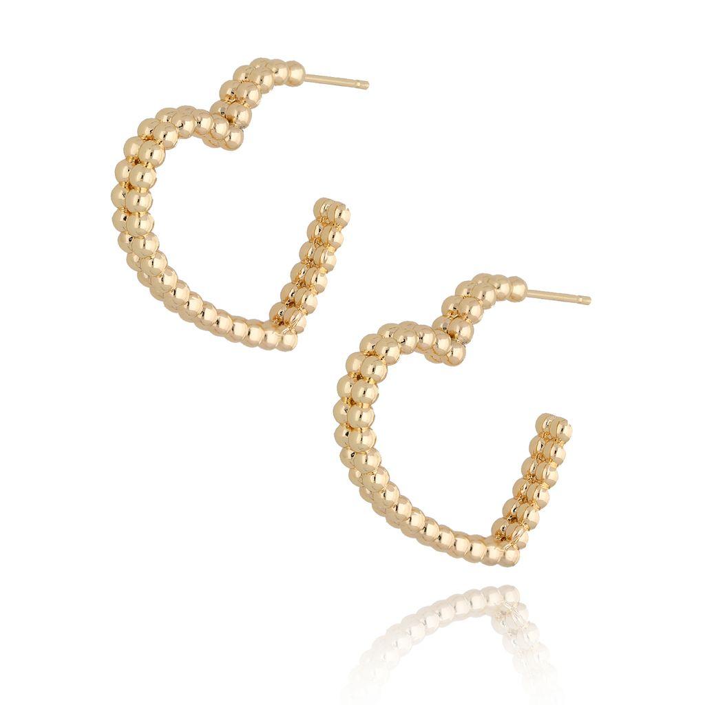 Kolczyki złote serca KRG0624