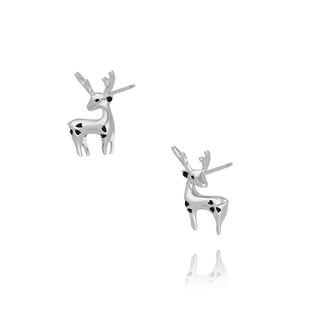 Kolczyki srebrne jelonki KGM0068