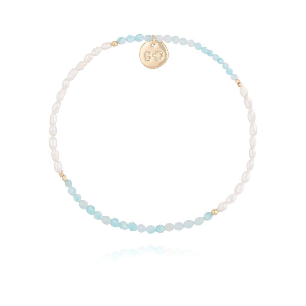 Bransoletka z perłami i akwamarynem BTW0205
