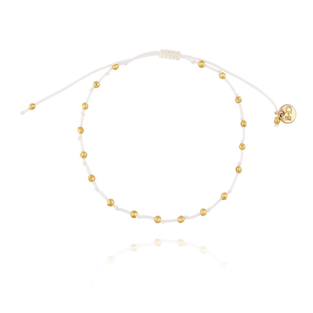 Bransoletka z supełkami kremowo złota BSC0720