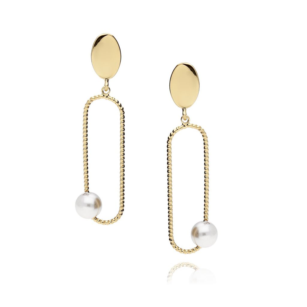 Kolczyki złote z perłą KRG0404
