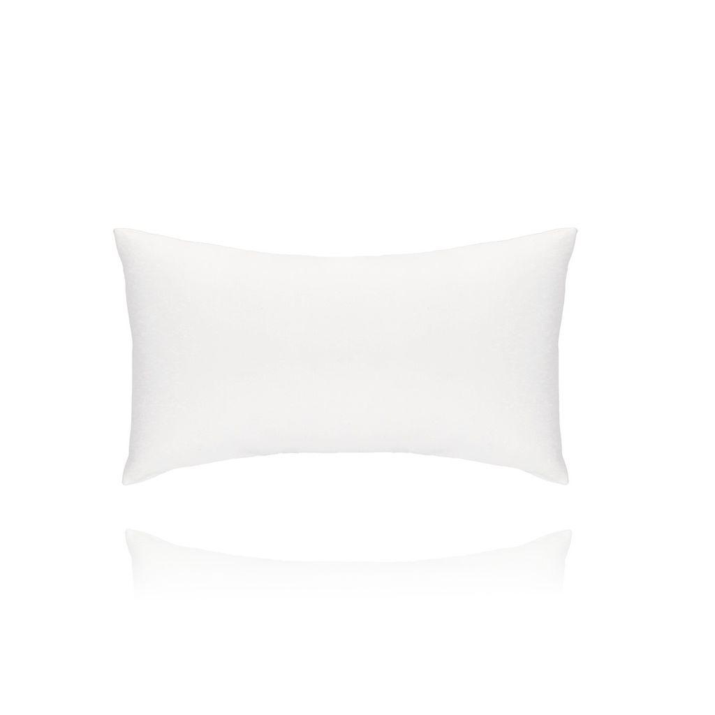 Poduszka skórzana biała - średnia OPA0182