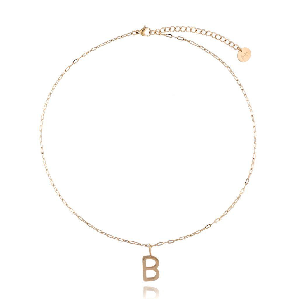 Naszyjnik złoty z literką B NAT0206