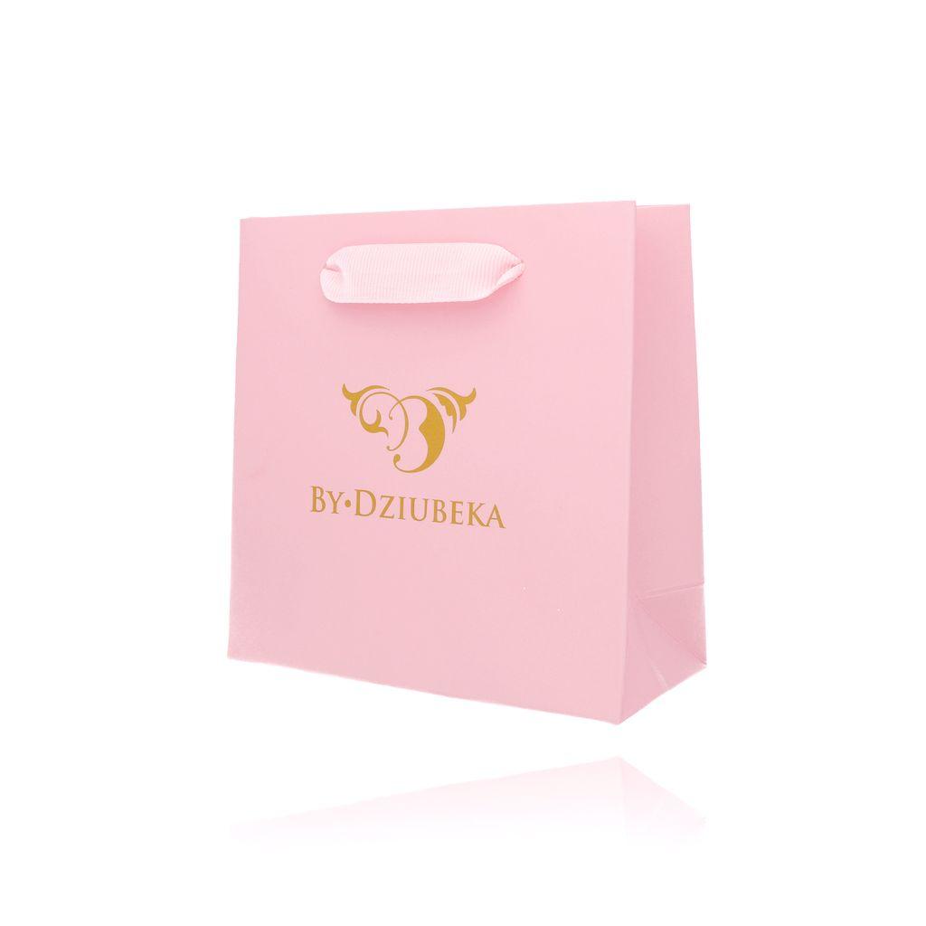 Torebka prezentowa mała różowa  OPA0161