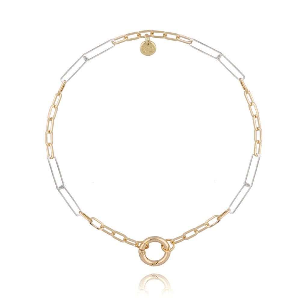 Naszyjnik złoto srebrny łańcuch NSL0022