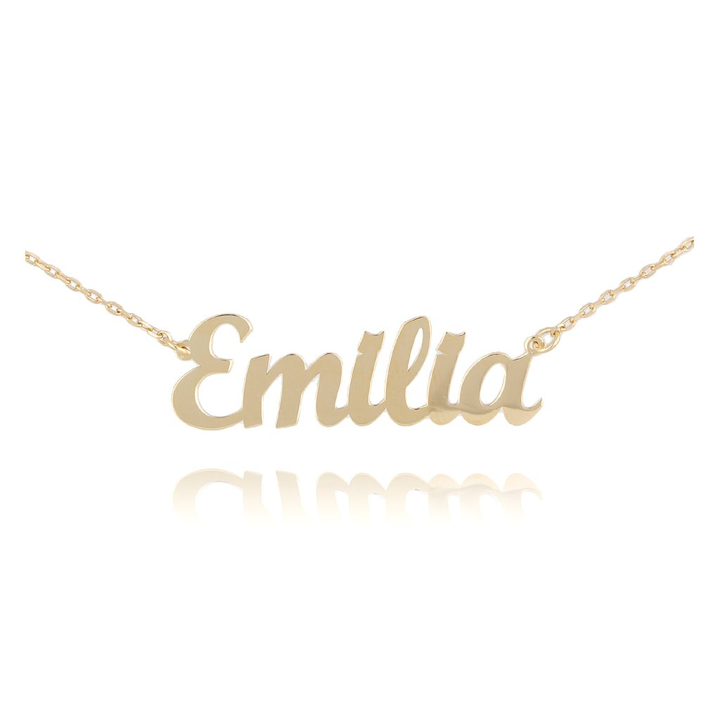 Naszyjnik srebrny pozłacany EMILIA NAT0139
