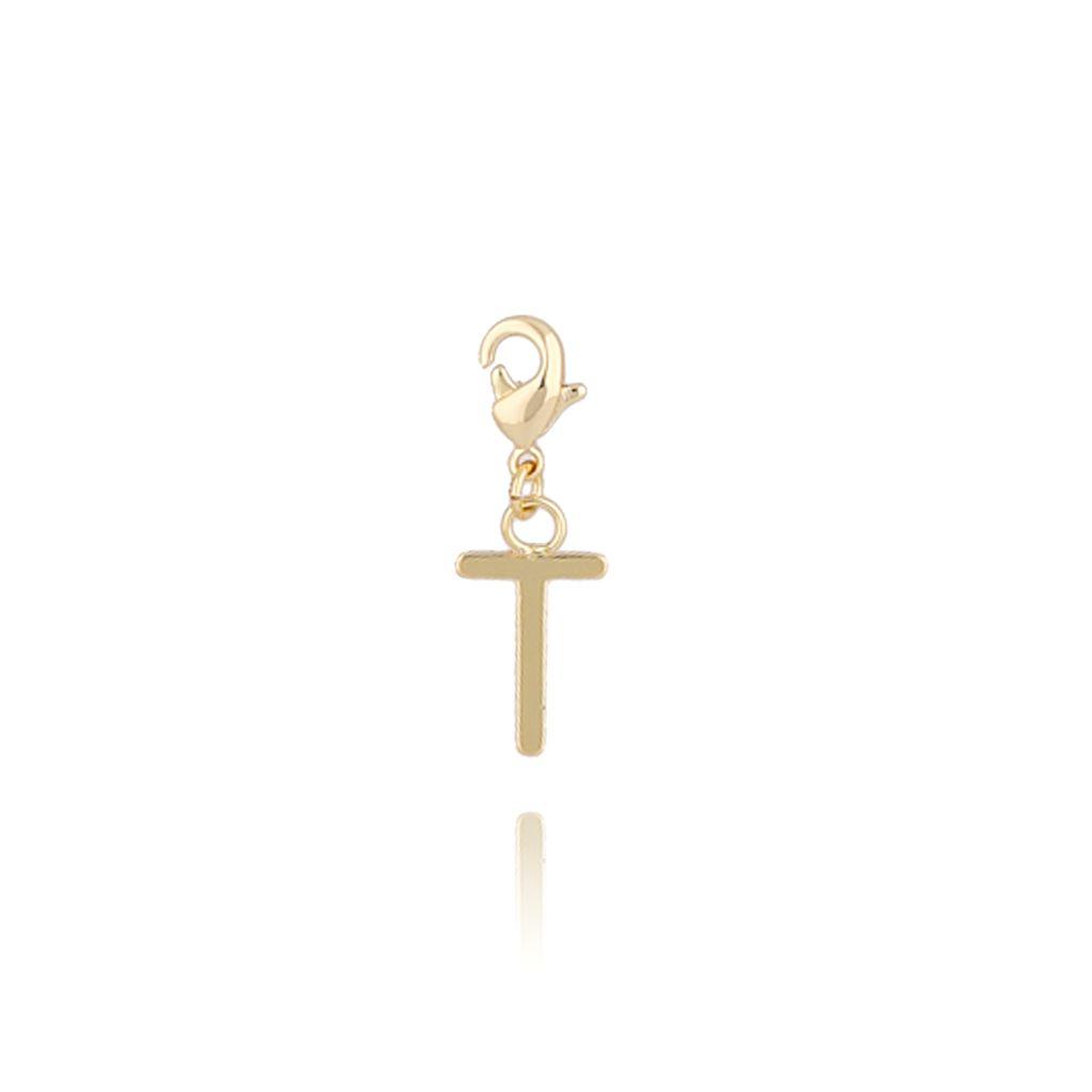 Charms złoty literką T NAT0183