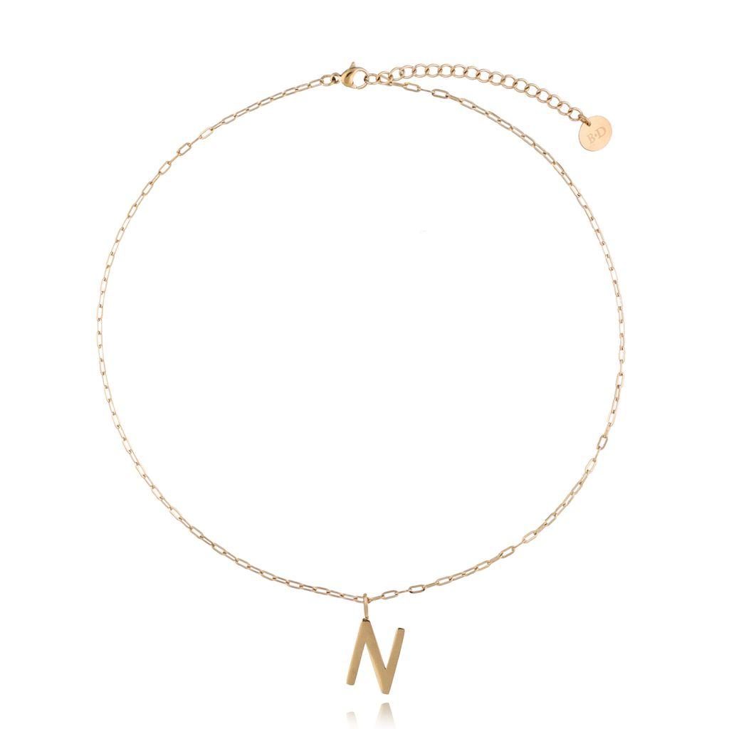 Naszyjnik złoty z literką N NAT0212
