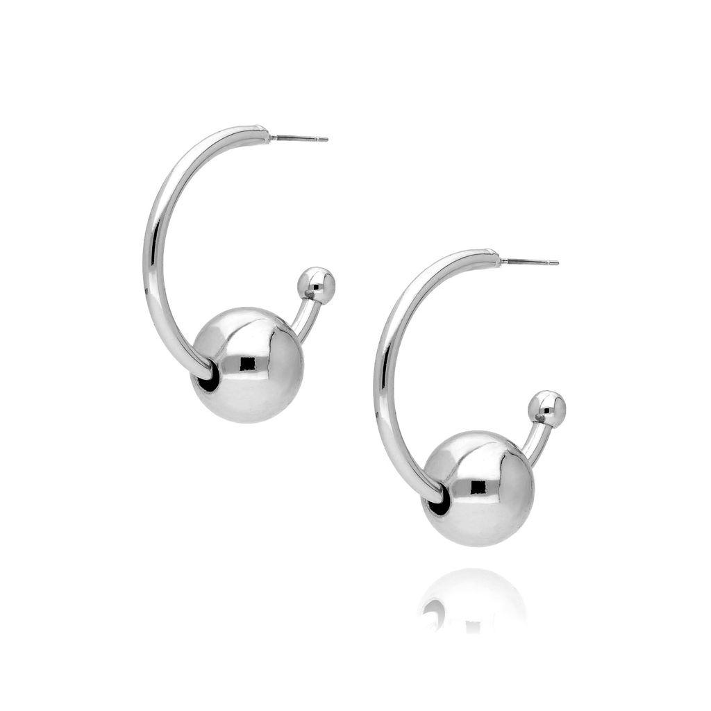 Kolczyki srebrne koła KRG0475