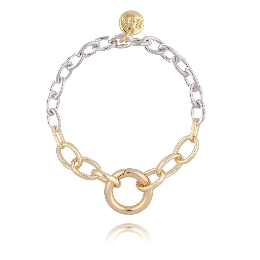 Bransoletka złoto srebrny łańcuch BSL0011
